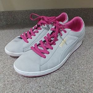 Gray Suede Puma Sneakers